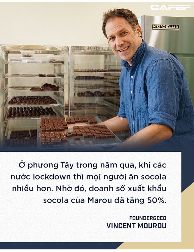 Doanh số xuất khẩu socola của Marou tăng 50%