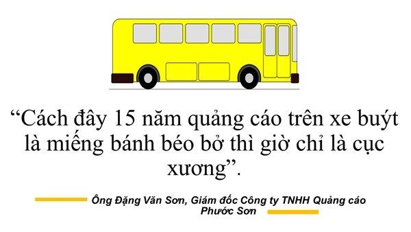 Các hình thức quảng cáo truyền thống trên xe buýt, nhà chờ không còn thu hút như trước.